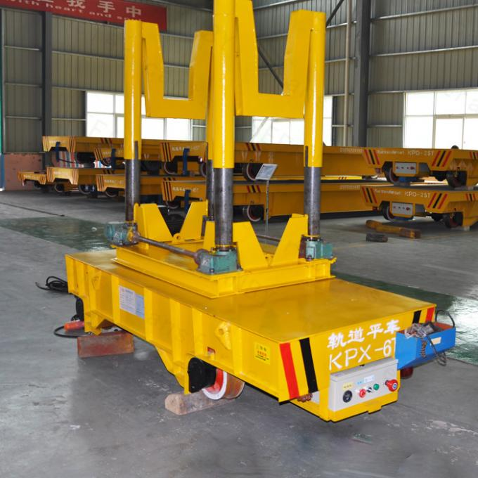 Steel 25T Ladle Transfer Cart For Heavy Industry 1 -  300 Ton Load Capacity