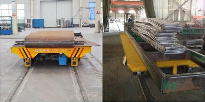 63t Industry Material Handling Trolley , Steel Plate Electric Die Cart
