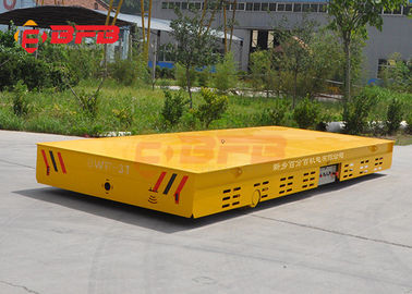Dead Man Stop Trackless Transfer Cart Electric High Running Speed Without Rails
