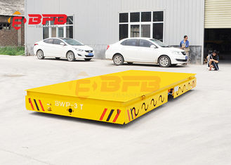 Heavy Load Automated Steerable Battery Powered Trailer With Car Warning Light