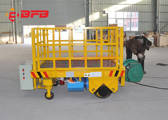 China High Speed Die Transfer Cart , Normal Floor Forklift Battery Transfer Cart supplier