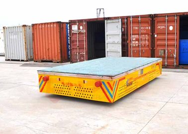 China Painting Line Trackless Transfer Cart Four Wheels Steerable Carriage Yellow Color supplier