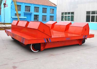 China 100t heavy load workshop die block rail truck for steel workpieces transportation supplier