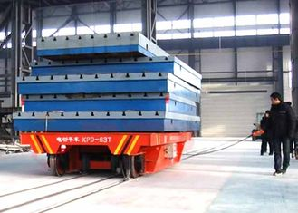 China 63t Industry Material Handling Trolley , Steel Plate Electric Die Cart supplier