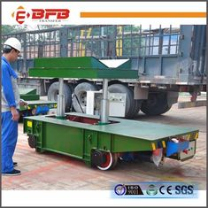 Box Beam Structure Hydraulic Lifting Device , Customized Industrial Material Carts