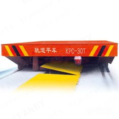 High Frequency Industrial Transfer Car Sliding Wire Powered Low Platform