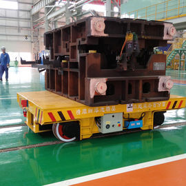 Steel Box Beam Structure Motorized Platform Cart , VFD Material Moving Equipment