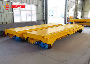 Steel Mill Handling Industrial Trolley Cart , 30T Electric Flatbed Cart