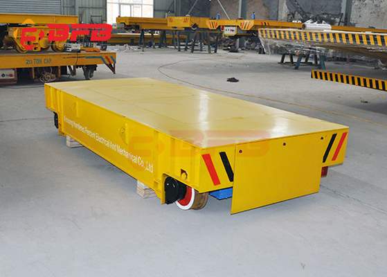 Wireless Motorized Automated Guided Carts Material Handling Rail Flatbed Trolley