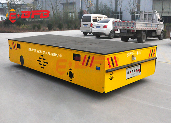 Directional self - propelled steerable transfer car 9 tons trackless transfer cart