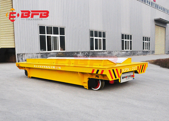 Heavy - Duty Transporter 10 Ton Capacity Platform Lorry With Rail Transfer Cart Battery