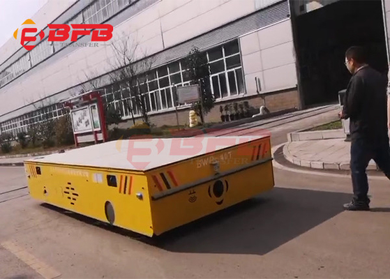 Self loading trackless transfer cart self-propelled trolley 100MT on concrete floor