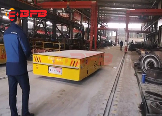 Trackless Transfer Cart Self - Propelled Material Handling Trolleys 40 Tons With Battery