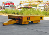 China Workshop Material Transfer Carts Winch Towing On Rails Yellow / Gray Color factory