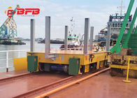 China Malaysia heavy machinery handling service electric rail flat car trolley 350t for steel products company