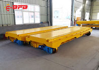 China Steel Mill Handling Industrial Trolley Cart , 30T Electric Flatbed Cart factory