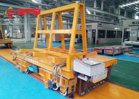 China Stable Start Battery Transfer Cart On Rails DC Motor Flatbed 12 Months Warranty factory