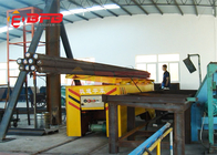 China Workshop Scrap Material Transport Electric Flat Car Battery Driven Self Unloading factory