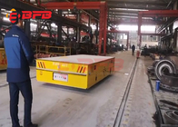 China Trackless Transfer Cart Self - Propelled Material Handling Trolleys 40 Tons With Battery company