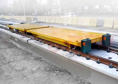 Production line apply battery powered delivery electric flat car on rail