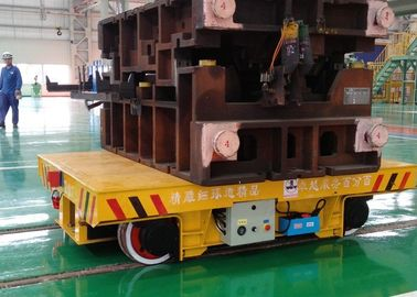 Foundry plant mold transfer trolley