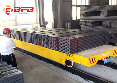 China Steel Factory Handler Electric Rail Transfer Car , DC Motor Material Handling Equipment CE / ISO Certificate factory