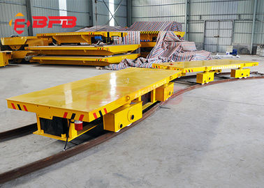 China 20t Capacity  Large Bearing Steel Industry Warehouse Work Battery Transfer Cart For Material Handling factory