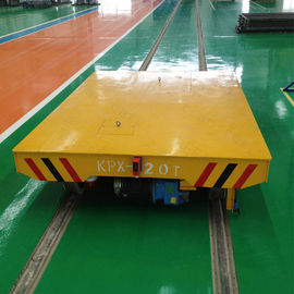 On Rail Hydraulic Lifting Transfer Cart High Frequency Powerful For Workshop