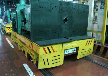 Flat Mounted Mold Transfer Cart , Forklift Coil Handling Material Moving Carts
