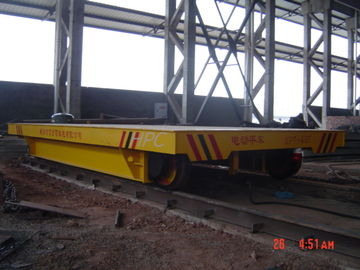 Powered Motorised Track Trolley , Heavy Duty Coil Industrial Transfer Equipment