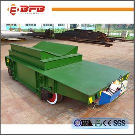 V Frame Motorized Hydraulic Lifting Transfer Cart For Paper Roller Transport