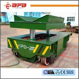 Conducting Rails Hydraulic Lift Table Cart , Q235 Industrial Handling Equipment