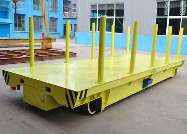China 50T Steel Rail Transfer Cart Box Beam Structure For Conductor Railroad Colored factory