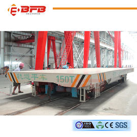 150T Rail Transfer Cart With Large Table Low Voltage Customized Color / Size