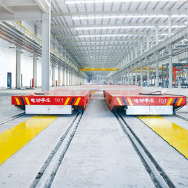 China Painting Line Rail Transfer Cart , Four Wheels Q235 Material Transfer Carts factory