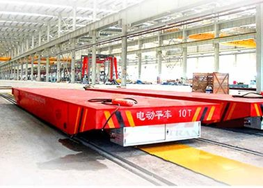 China AC Motor Control Busbar Powered Transfer Cart Large Load Sliding Wire Vehicle factory