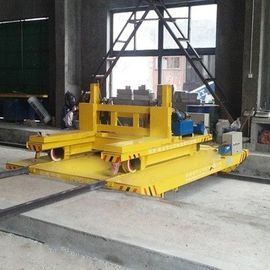 Anti High Temperature Busbar Powered Transfer Cart Heavy Duty Cross Bay Ferry Bogie