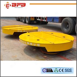 China Rotating Industrial Electric Turntable , Flat Q235 Material Moving Carts factory