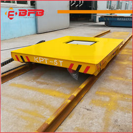 Heat Resist Electric Material Handling Cart , Flat Load Transfer Trolley
