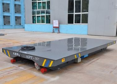 China Busbar Powered Motorised Trolleys Carts , No Pollution Rail Transfer Car factory