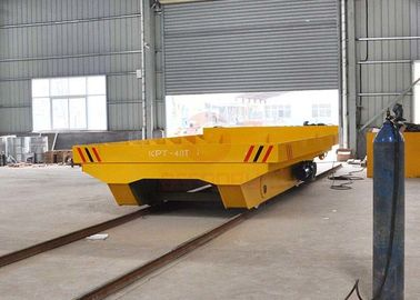 China Heavy Material On Rail Transfer Cart , Warehouses Q235B Electric Work Cart factory