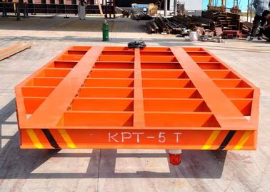 Transformer Plant Motorized Rail Cart , Remote Control Material Transfer Trolley Rail Carry Trailer