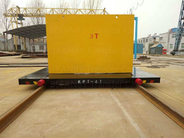 300T Capacity Electric Transfer Cart Four Caste Steel Wheels Cable Powered