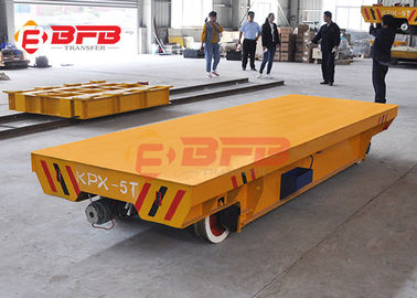 China 10tons Flexible Heavy Duty Quad Steer Carts , Free Maintenance Material Handling Trolley factory