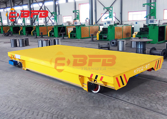 China Large Table Battery Powered Carts Industrial Transfer, Flexible Motorized Transfer Trolley On Rail Roads factory