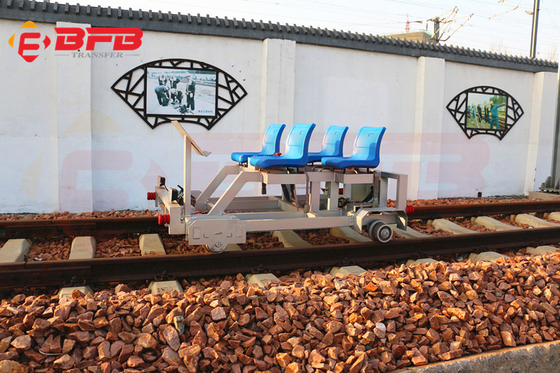 Rail guided motorized railway track inspection repairment maintenance rail vehicle