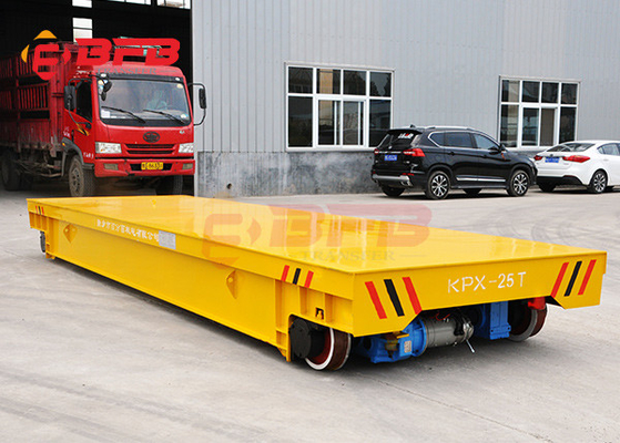 Wireless motorized material handling electric rail flatbed trolley price for factory
