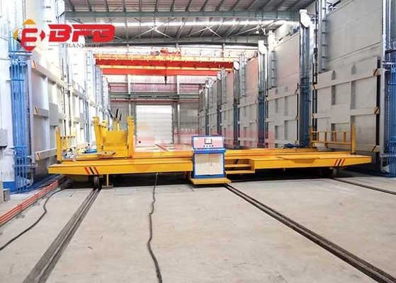 Self - Propelled Annealing Furnace Rail Transfer Cart High Temperature Proof