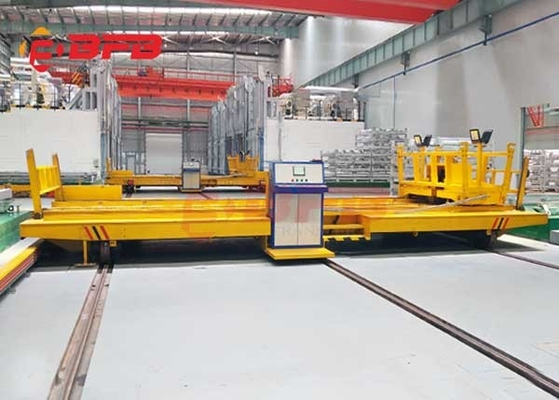 Workshop Annealing Furnace Material Transfer Carts Electric Powered In Yellow