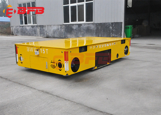Motorized 20m/Min Trackless Q235 Material Transfer Cart
